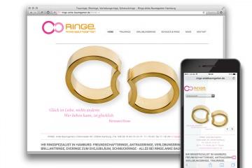 responsive Website 'Ringe. Anke Baumgarten' – Startseite
