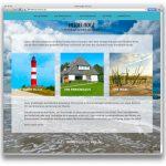 """Startseite """"Heidelodge Amrum""""/my-amrum.de Website für ein Ferienhaus"""
