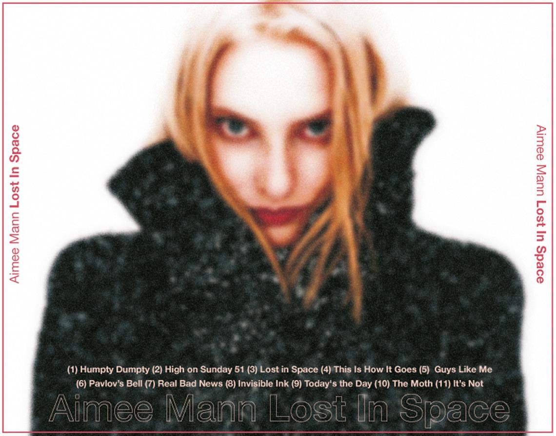 Inlay Card für einen CD-Cover Entwurf für Aimee Mann, Lost in Space (nicht realisiert)
