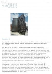 Architekten Schenk+Waiblinger – Objektbeschreibung Geschäfshaus Domstraße, Hamburg / Schenk+Waiblinger Architekten
